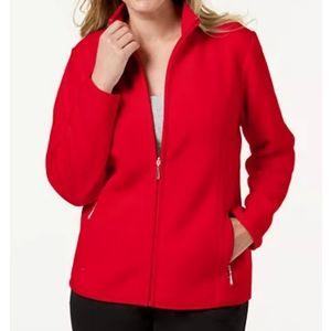 Karen Scott Fleece Zeroproof Fleece Jacket Size L